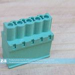 SKU: AE-BLOCK/508/S5, Green Connector 5.08mm Pitch Straight Side Feed 5 Way PCB Cable Terminal Block, 5Pin Plug in Screw
