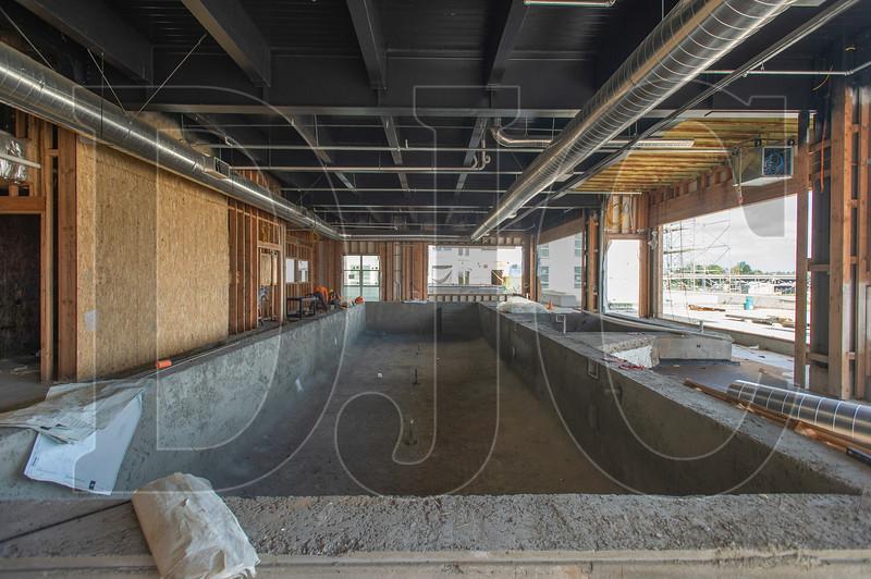 An indoor swimming pool is among the building's resident amenities. (Josh Kulla/DJC)