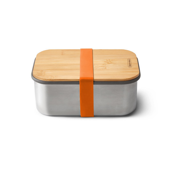 Stainless Steel Sandwich Box Large orange Black Blum