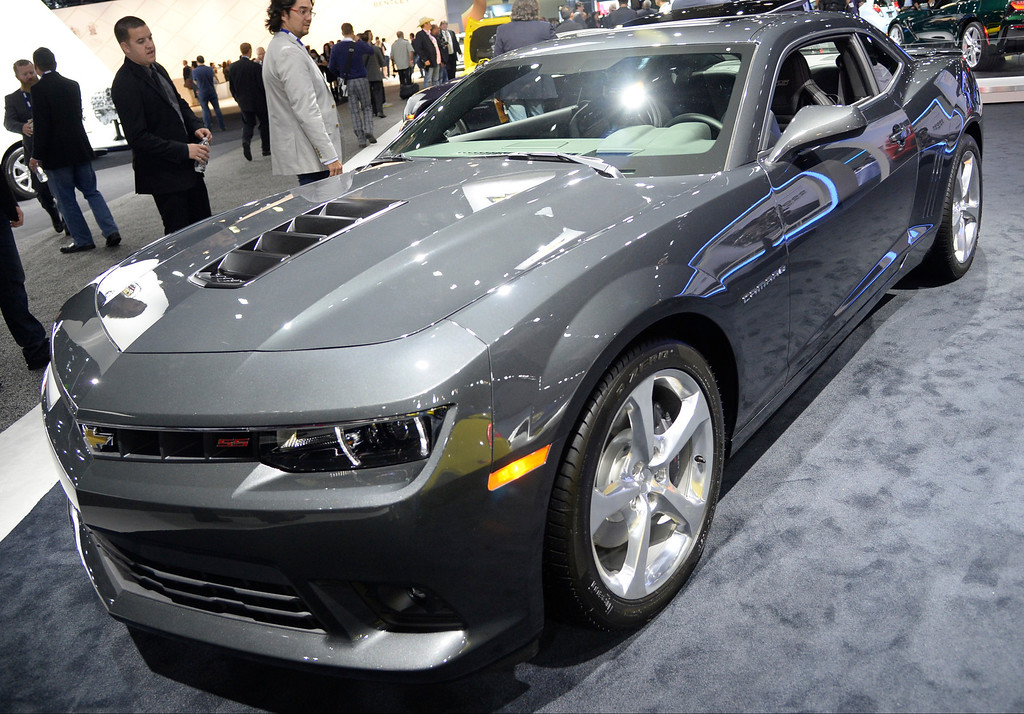 . Nov 20,2013 Los Angeles CA. USA. The new Chevy SS camaro on display during the 2013 Los Angeles Auto Show. Photo by Gene Blevins/LA Daily News