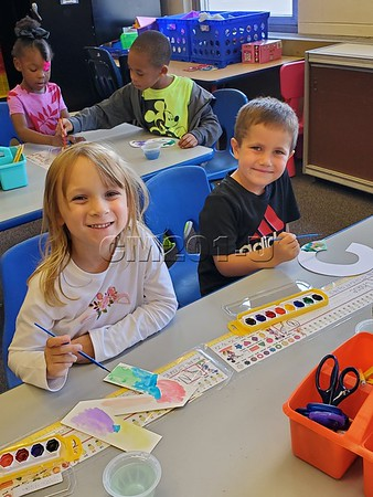 Kindergarten Painting Letters