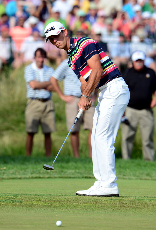 . Billy Horschel of the United States putts during Round Three of the 113th U.S. Open at Merion Golf Club on June 15, 2013 in Ardmore, Pennsylvania.  (Photo by David Cannon/Getty Images)