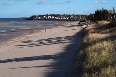 Parlee Beach Provincial Park, Shediac, New Brunswick : Tuesday 31 October 2017