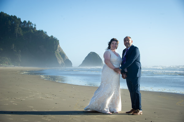 Christy & Joe, Arch Cape, Oregon Coast Aug. 8