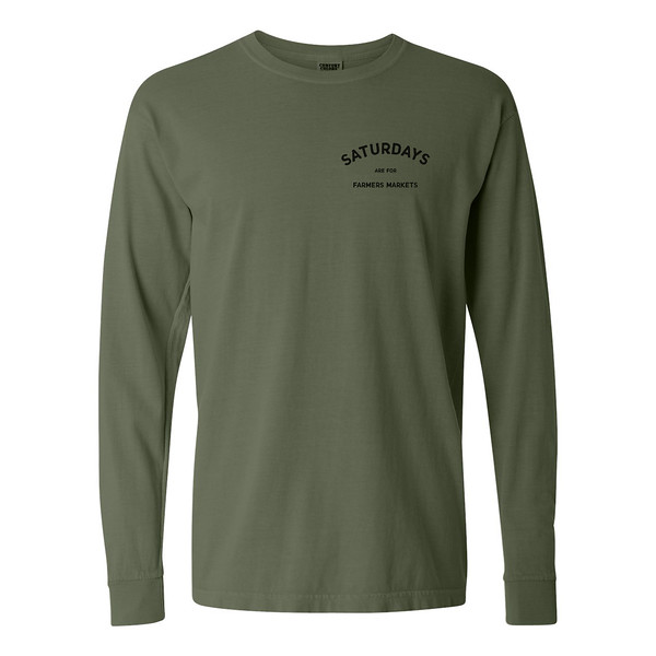 Organ Mountain Outfitters - Outdoor Apparel - Mens T-Shirt - Saturdays are for Farmers Markets Long Sleeve Tee - Hemp Front.jpg