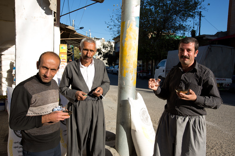 Gentlemen enjoying some morning tea in Sulaymaniyah, Iraqi Kurdistan.