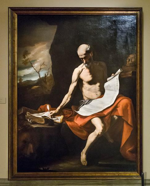 José de Ribera: Büßender Hlg. Hieronymus [um 1650,  Academia de Bellas Artes, Madrid]