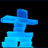 April 5, 2014  Blue Inukshuk  (95/365)  Daily theme: Not Mine #fmsphotoaday