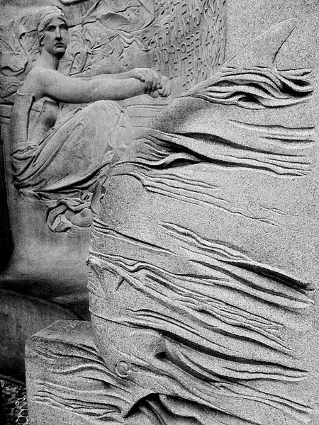 """Damn the torpedoes!..."" - Base of Farragut Memorial (detail), Madison Square Park, NYC"
