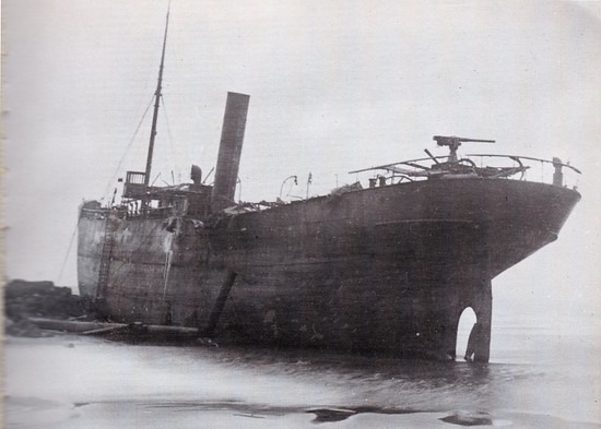 The wreck of the Bellem.