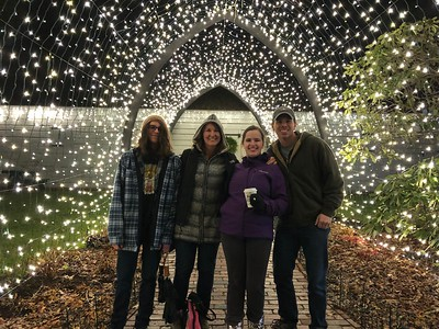 Author and family at Gardens Aglow