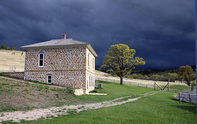 Looking south from the bunkhouse.  The Anderson home remains one of the finest examples of a late 1800's ranch home in the northern Black Hills.