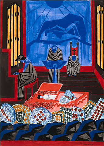 "Jacob Lawrence, ""Funeral Sermon"" (1946)"