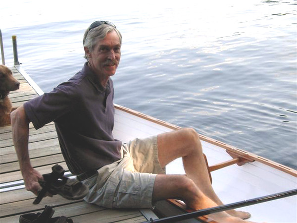 """The maiden voyage of the """"Hannah Belle"""" at Spring Pond Camp, Saranac Lake, August 2007!"""