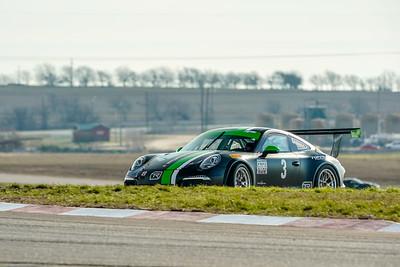 #3 Black/Green Porsche GT3