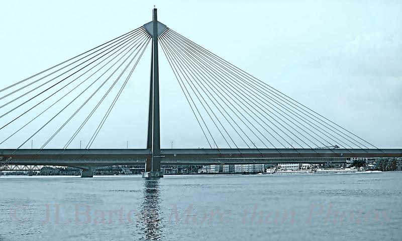 U2 Bridge Across the Danube for the Metro