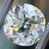 4.11ct Antique Cushion Cut Diamond, GIA N VS1 0
