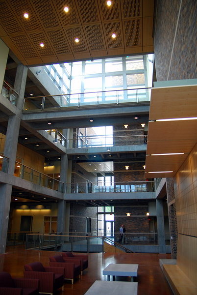 This is the main atrium in the French Bldg.