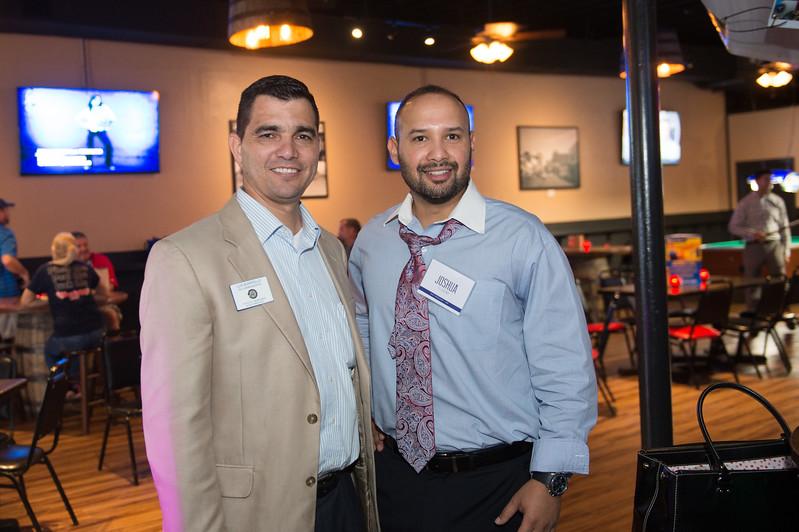 Luis Buentello and Joshua Tijerina  at the CCU40 kick off event in Corpus Christi, Tx.