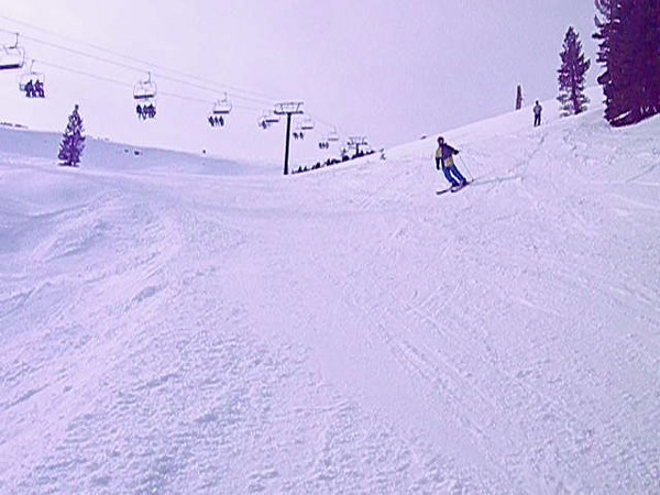 Aaron and Harrison going over the lip at the bottom of the backside at Kirkwood.  Video by John Donovan.