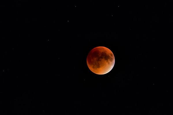 Moon, Stars and Meteors