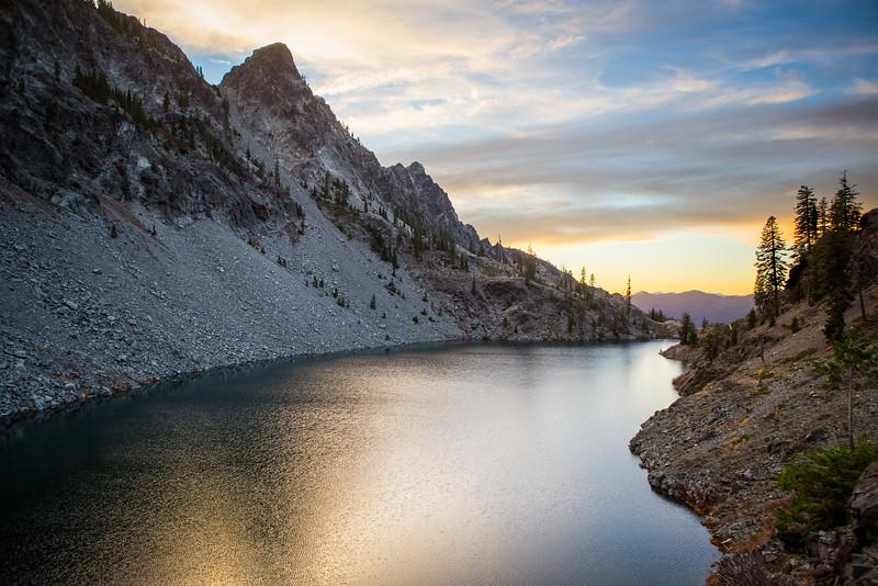 Man Eaten Lake at Dusk