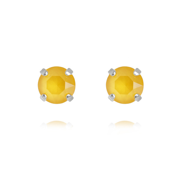 Classic Stud Earrings / Buttercup Rhodium