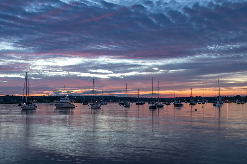 Stonington Harbor Summer Sunset