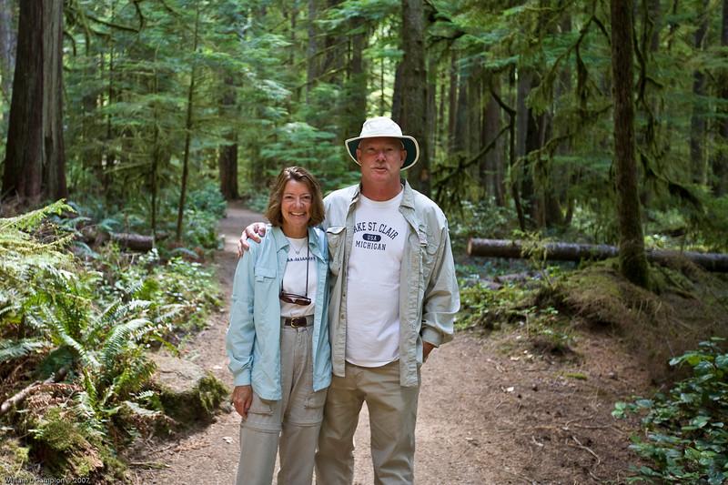 Us, near Meeramer Falls Olympic National Park
