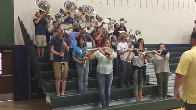 2017 Wind Ensemble at Volleyball Game