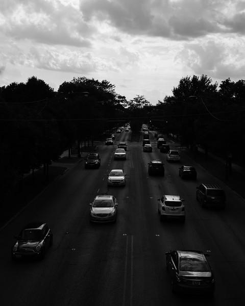 Over traffic of Sauganash, Chicago