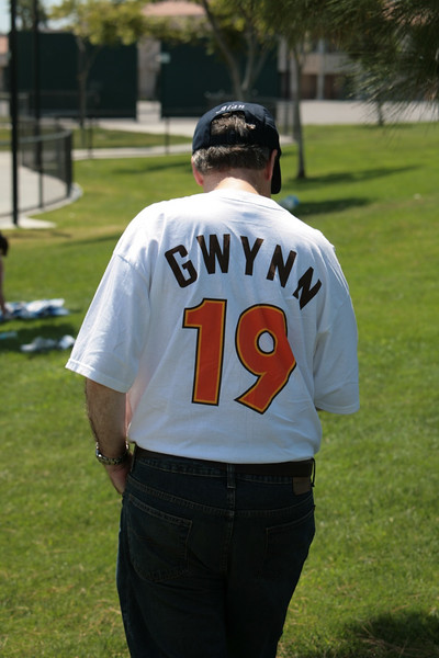 When Tony Gwynn showed up, the day was complete!