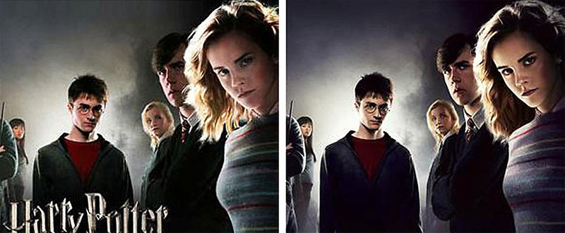 """. May 2007: In an advertisement for IMAX 3D theaters promoting the latest Harry Potter movie, the bust of actress Emma Watson was digitally enlarged. A similar advertisement in regular theaters was unaltered. Warner Brothers Pictures released a statement that said \""""This is not an official poster. Unfortunately this image was accidentally posted on the IMAX website. The mistake was promptly rectified and the image taken down.\"""" SOURCE: http://www.cs.dartmouth.edu/farid/research/digitaltampering/"""