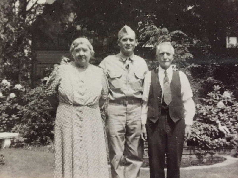 Uncle Stanley with Great Grandma and Grandpa Schultz