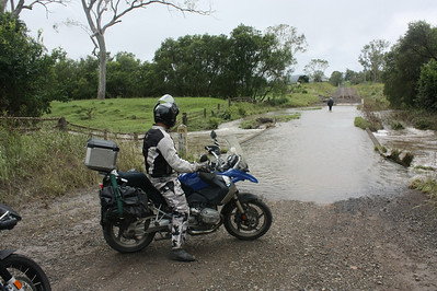 Motorcycling in the wet