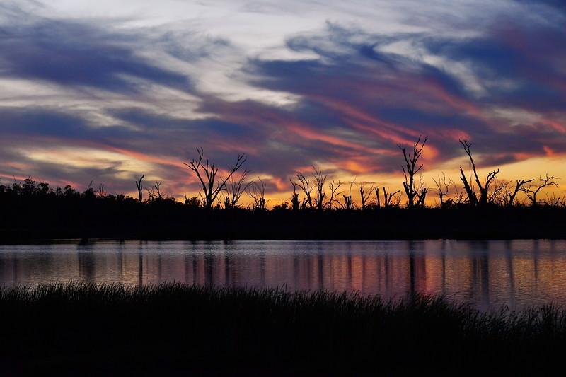 Sunset over the Mundic Creek