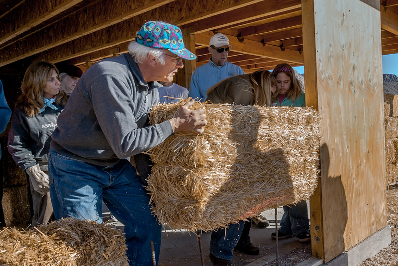 Placing a Bale
