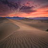 Vast dunes in Death Valley National Park captured on a 100-degree morning.