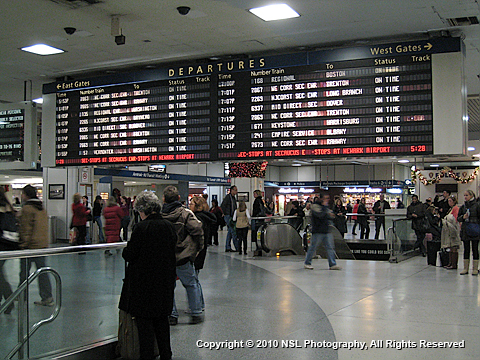 Amtrak's Penn Station, New York, photo by NSL Photography