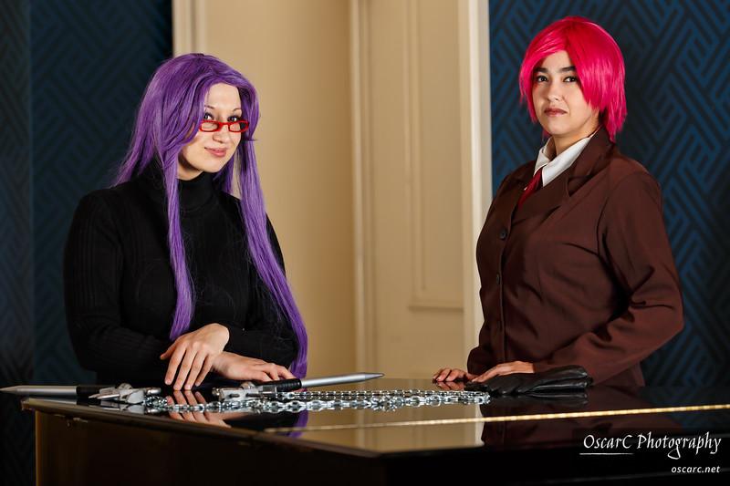 Bazett (Eve) and Rider (Etaru) from Fate Hollow Ataraxia