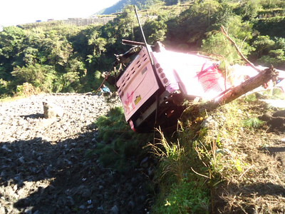 Bus accident in Mt. Province