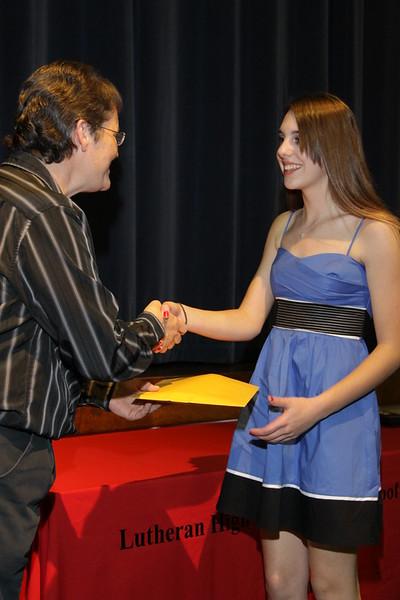 Awards Night 2012 - Student of the Year: Honors Algebra 2
