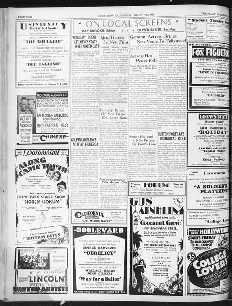 Daily Trojan, Vol. 22, No. 61, December 11, 1930