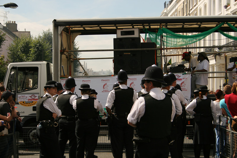 Police at Notting Hill Carnival