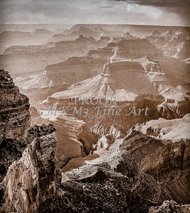 Grand Canyon in Antique Black and White