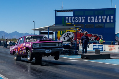 Drag races and race cars