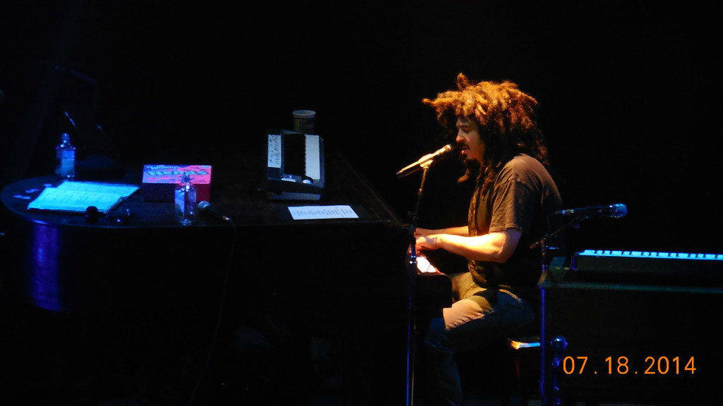 . Adam Duritz of Counting Crows plays piano and sings at Sound Board in the MotorCity Casino on Friday, July 18, 2014. Photo by Blake Gitlin