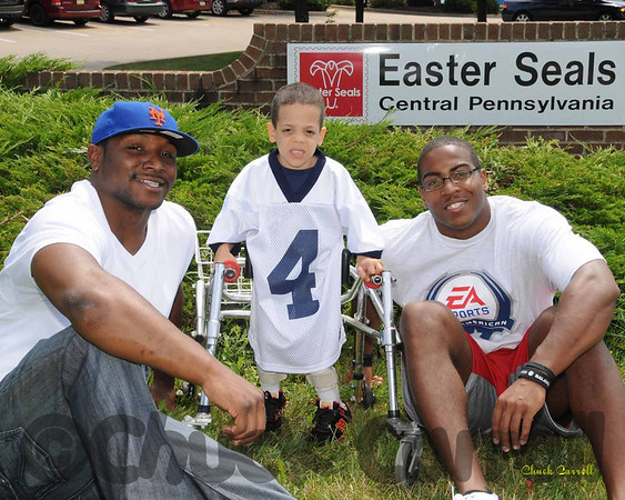 Penn State Football Team Visits State College Easter Seals  --  August 8, 2009