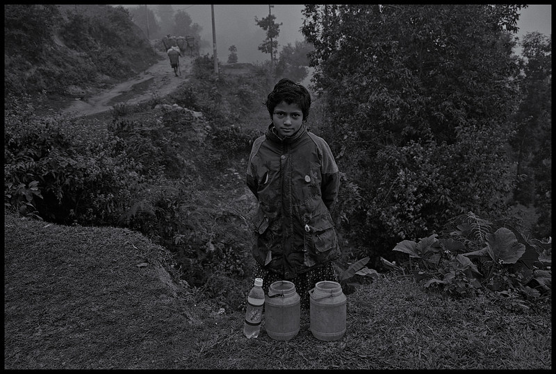 Young Girl On The Trip For Water