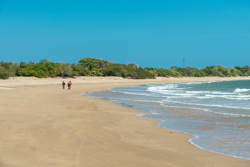 Beach gets crowded